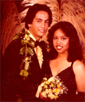 Steven, Hope you like the picture. You should have been there. Friends, Leroy and Teri (P.C. Junior Prom) WEBMASTER NOTE: Leroy attended Teri's Junior Prom at Pearl City, which was held the SAME night as our Prom.